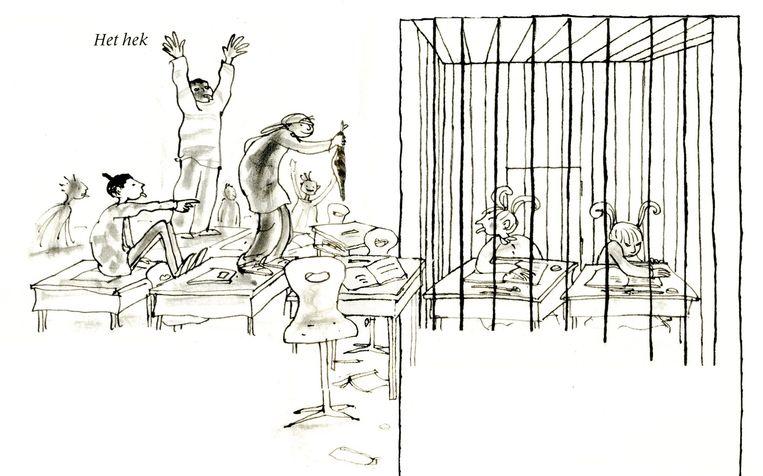 Illustratie uit 'De hele erge Ellie en nare Nellie' Beeld Annemarie van Haeringen
