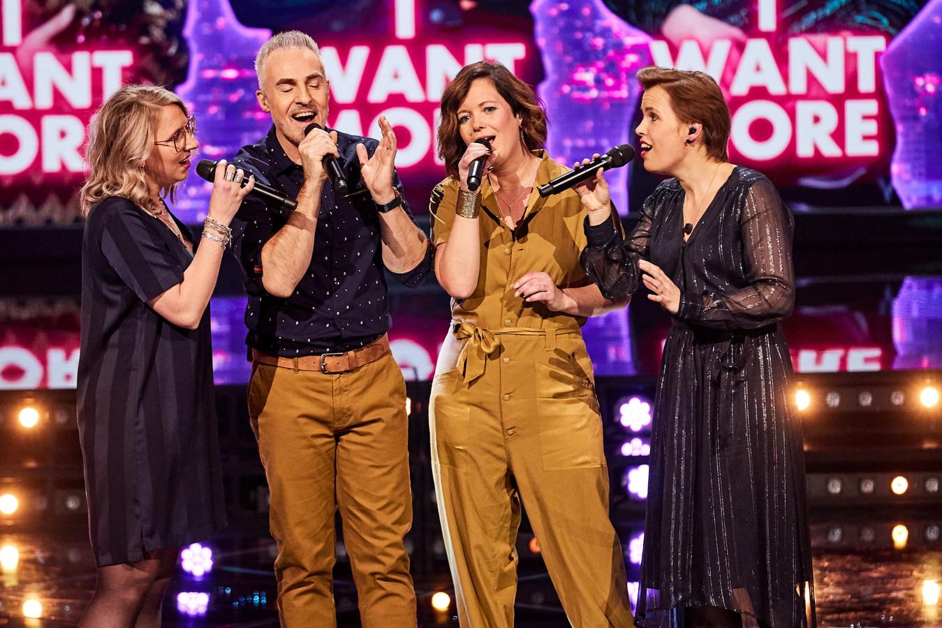 Angels Rule, met vanaf links: Marlies Driessen, Roel Verheggen, Caroline Ermers en Anneke Miggiels.
