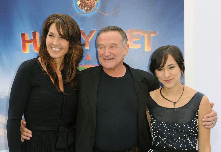 Susan Schneider, Robin Williams en zijn dochter Zelda.