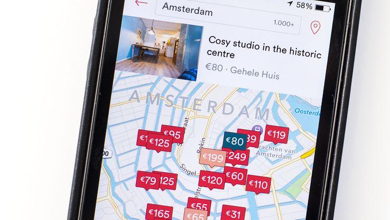 Airbnb accommodaties in Amsterdam Beeld anp