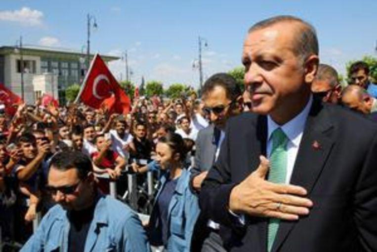 Turks president Erdogan. Beeld afp