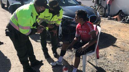 Nairo Quintana omvergereden op training in Colombia
