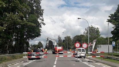 Waterlek bemoeilijkt verkeer in Doorniksesteenweg