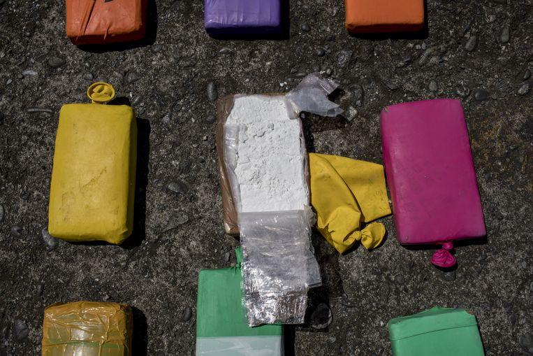 Een drugsvangst in het Colombiaanse Buenaventura. Beeld Bloomberg via Getty Images