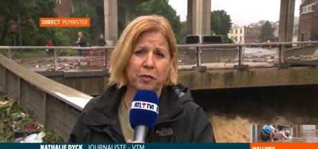 Une journaliste flamande fait un direct sur RTL en l'absence de journalistes de la chaîne, incapables de se rendre sur les lieux