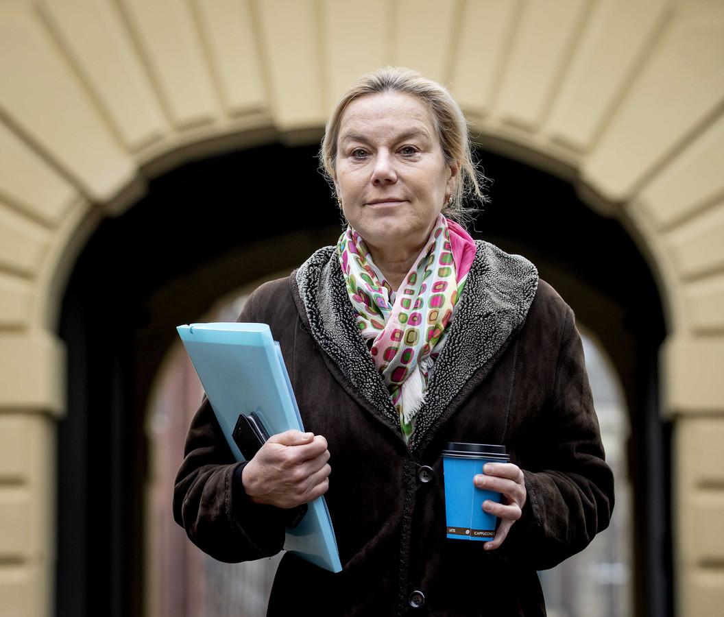 D66-lijsttrekker Sigrid Kaag, tevens demissionair minister voor Buitenlandse Handel en Ontwikkelingssamenwerking.