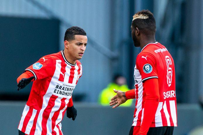Mohamed Ihattaren lost Ibrahim Sangaré af. De 19-jarige PSV'er beleeft een heel teleurstellend seizoen.