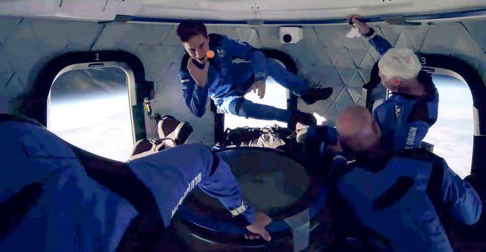 Oliver Daemen uit Oisterwijk tijdens zijn reis naar de ruimte vorige week.