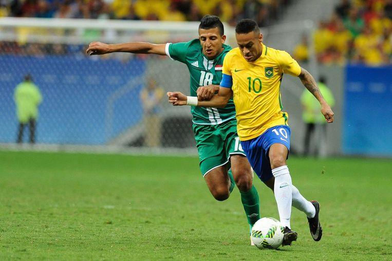 Neymar in actie voor Braziliaanse olympische ploeg Beeld null