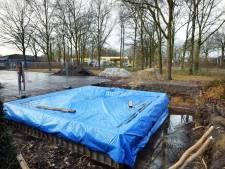 Flinke zeperd voor gemeente Oldenzaal met zendmast bij VV Oldenzaal