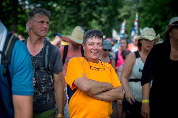 Henk Koster tijdens de derde etappe van de Vierdaagse.