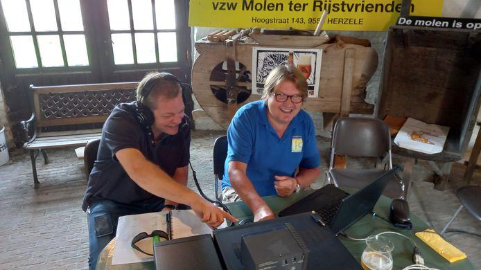 Herzele: De radioamateurs waren actief vanuit Molen Ter Rijst.
