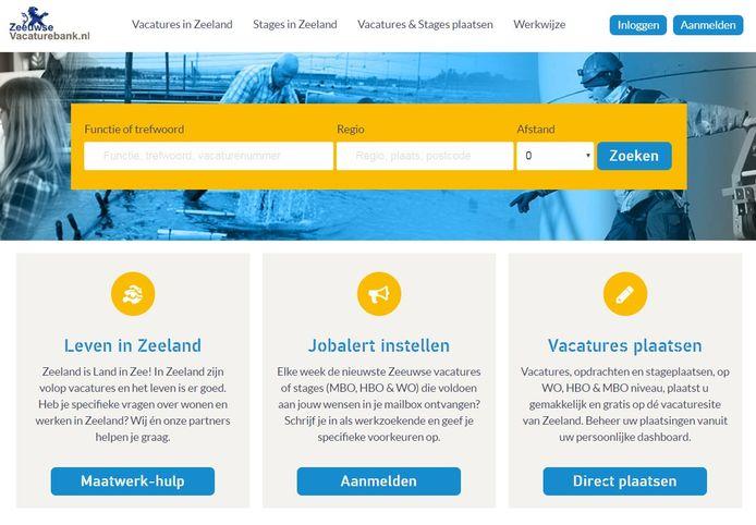 De website voor werkzoekenden in Zeeland: ZeeuwseVacaturebank.nl.