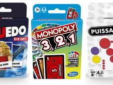 Cluedo, Monopoly ou encore Puissance 4 s'offrent une version jeux de cartes, idéale pour les vacances