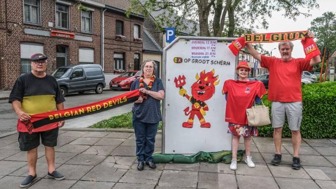 In Hamiltonpark in Ieper en aan de kerk in Vlamertinge zijn Rode Duivels te volgen op groot scherm, in Brielen gaat het niet door