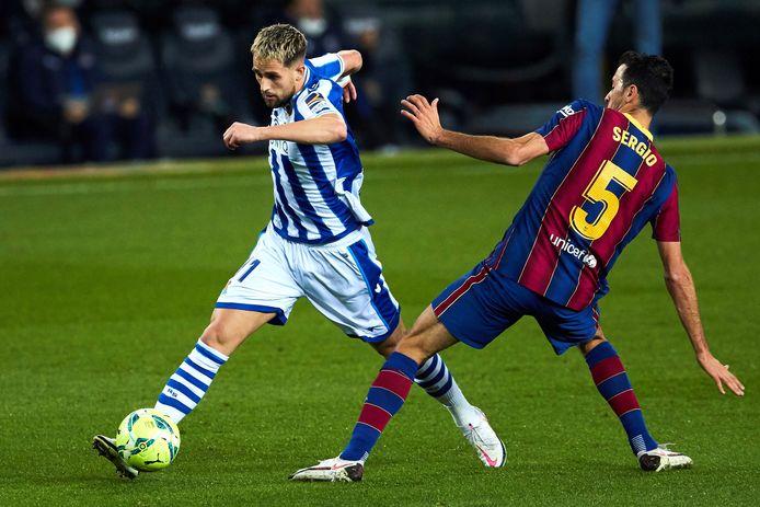 Adnan Januzaj a dû céder sa place après 56 minutes lors du choc contre le Barça.