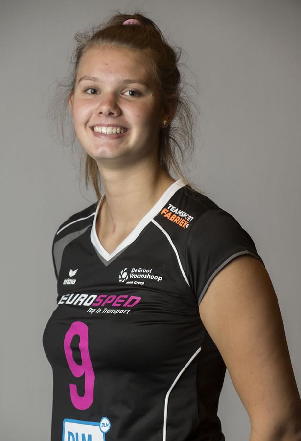 Eline Timmerman in het shirt van Eurosped.