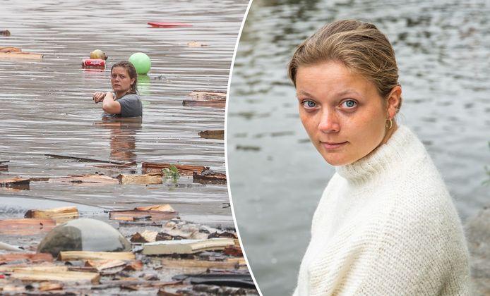 Une photo en particulier est rapidement devenue le symbole de la catastrophe des inondations et a fait la couverture de Paris Match: celle qui montre le désespoir sur le visage froid de Marguerite della Faille, seule dans l'eau et entourée de débris.