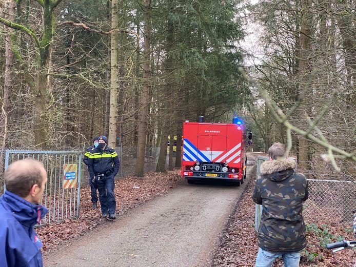 Brandweer rukt uit voor brand aan de Zandlaan in Harderwijk