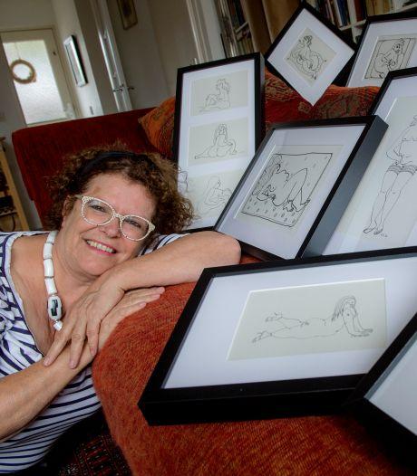 Cisca tekent dikke dames in een erotisch lijnenspel: 'vrouwen, wees trots op je lijf'