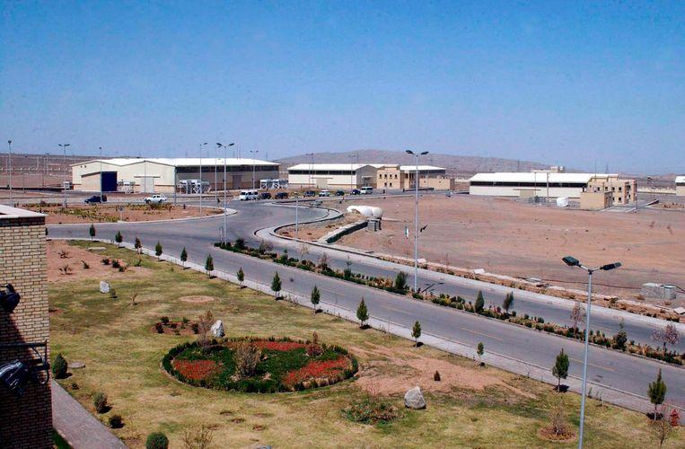 Het uraniumverrijkingscomplex van Natanz in centraal Iran. Beeld EPA