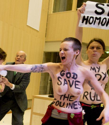 Pas de problème de déontologie pendant l'action des Femen à l'ULB