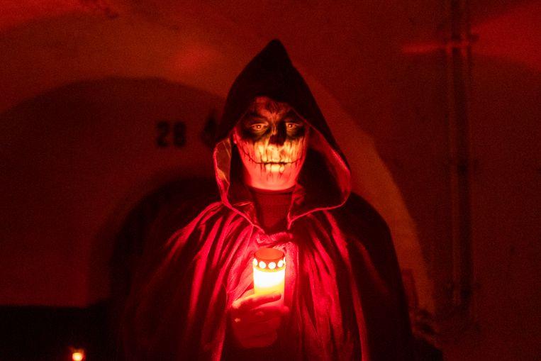 Eén van de horrorfiguren die sfeer bracht op de allereerste editie van Nite at the Fortress.