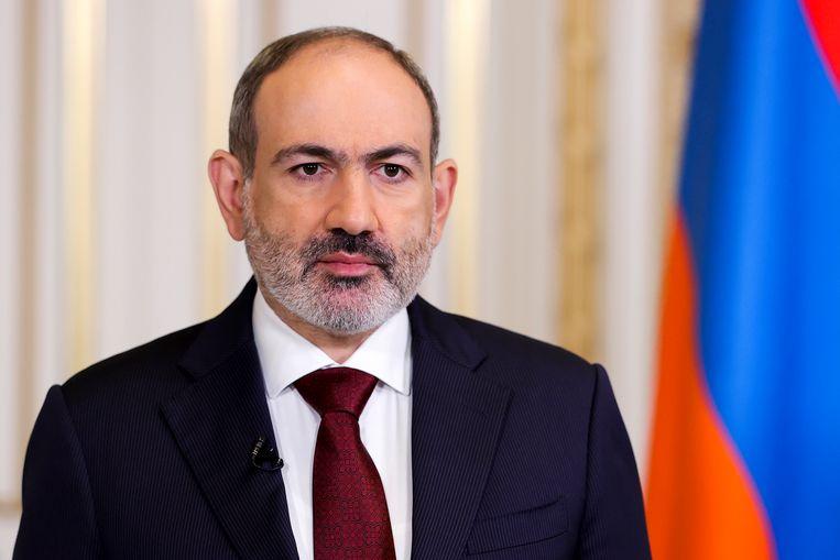 De Armeense premier Nikol Pasjinian. Beeld AP