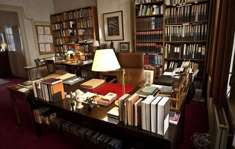 De voormalige werkkamer van schrijver Harry Mulisch. Beeld anp