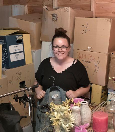Melissa (30) doneert haar complete kringloopwinkel aan Limburg: 'Sommige mensen hebben echt niets meer'