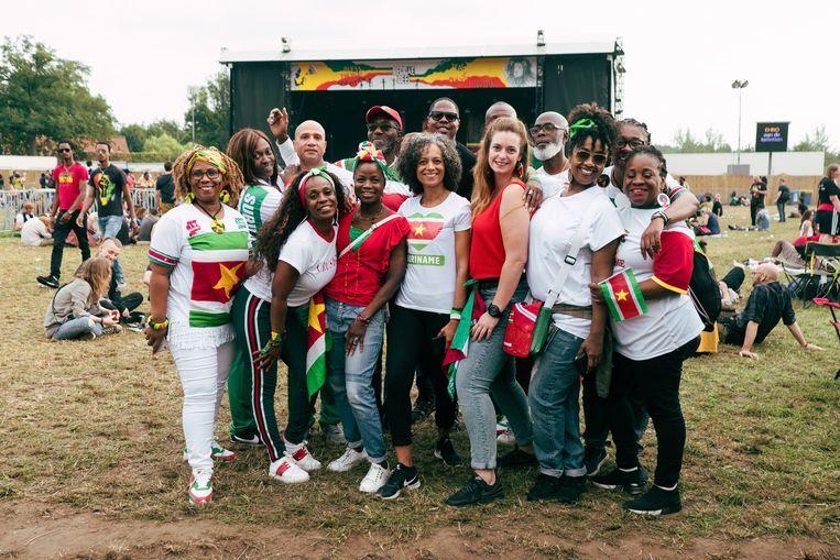 Suriname was goed vertegenwoordigd op Reggae Geel 2019. Beeld Damon De Backer