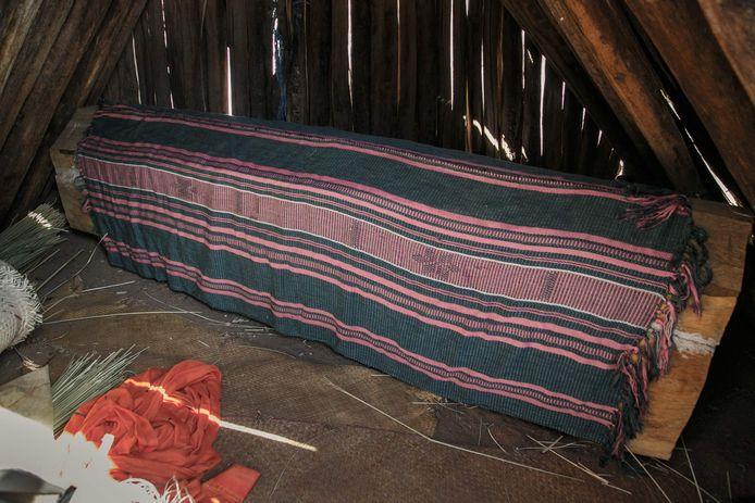 Le corps de Retsangana Monja repose dans une maison du village de Fenoaivo, Commune Ifotaka, le 30 août 2021.