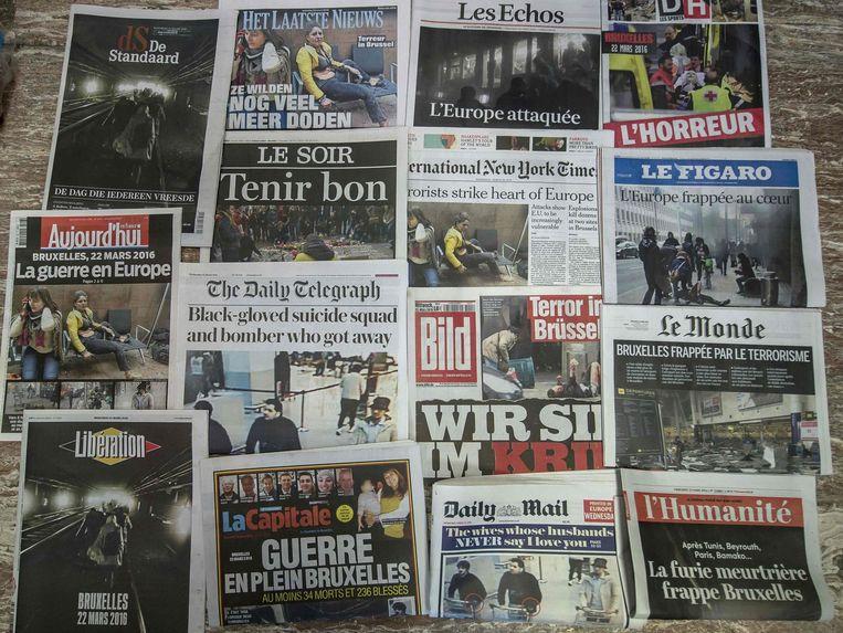 Voorpagina's van de Europese kranten. Beeld afp