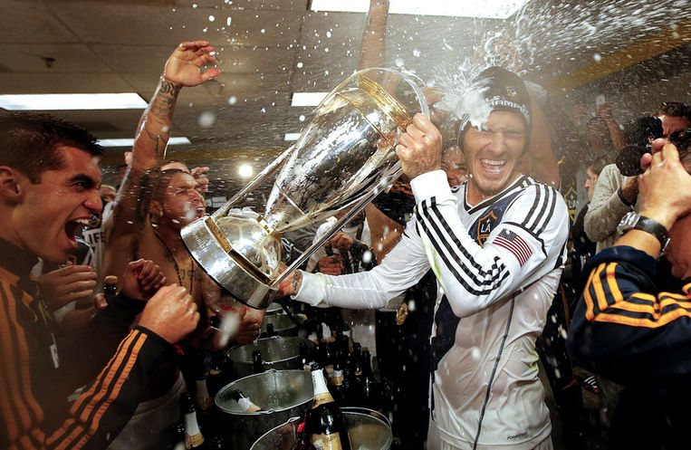 David Beckham bij LA Galaxy Beeld AP