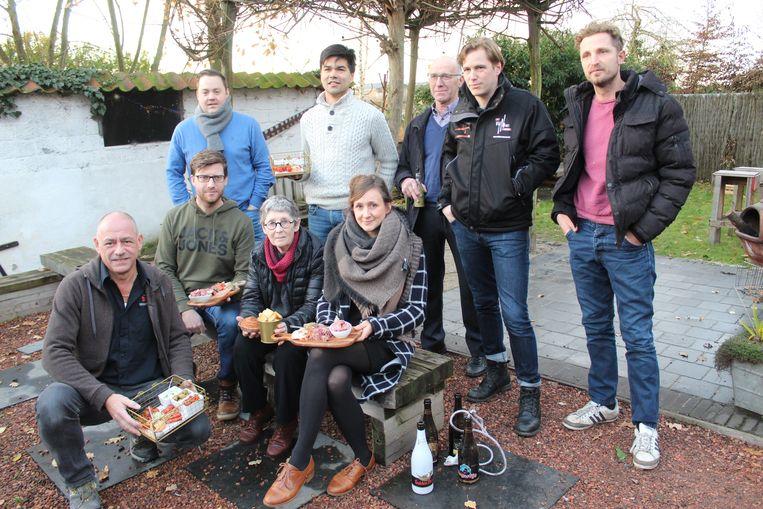 Het team achter het Smaakfestival in Kaprijke.