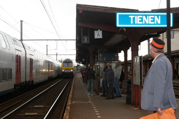 Het station van Tienen.