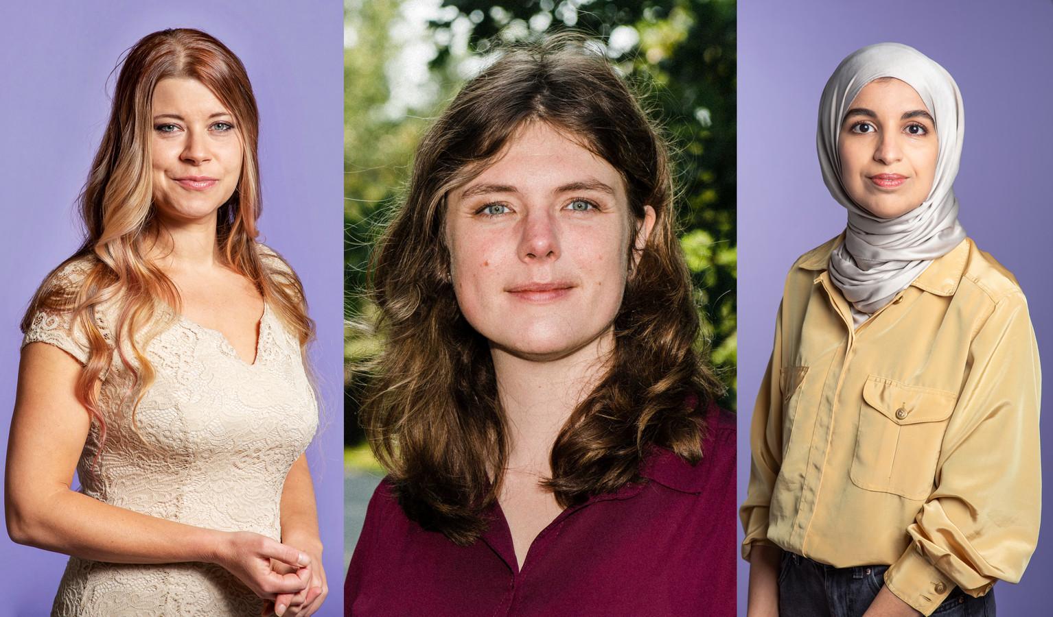 Lisa Westerveld (GroenLinks), Marieke Koekkoek (Volt) en Kauthar Bouchallikht (GroenLinks).