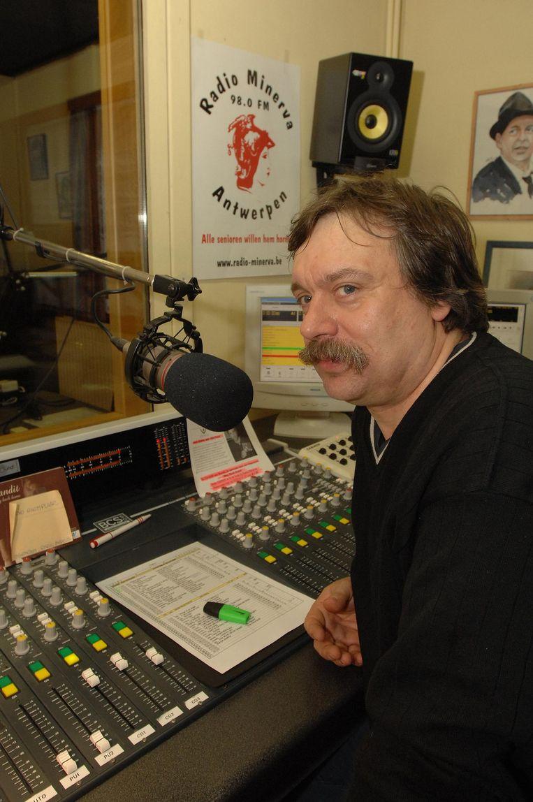 Voorzitter Frank Boekhoff van Radio Minerva.