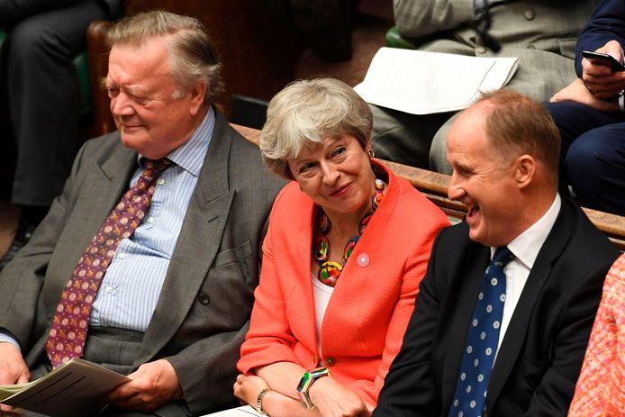 Theresa May probeerde haar deal dit voorjaar tevergeefs door het parlement te krijgen.