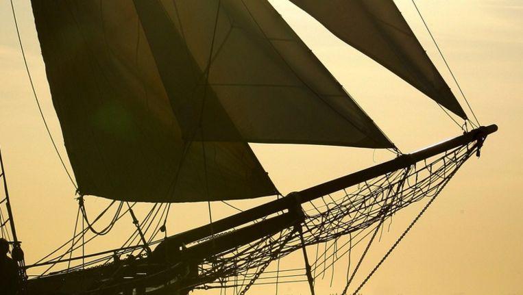 Een traditioneel zeilschip op het IJsselmeer Beeld anp