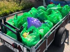 Vroomshoop prikt dorp schoon: 150 kilo zwerfvuil