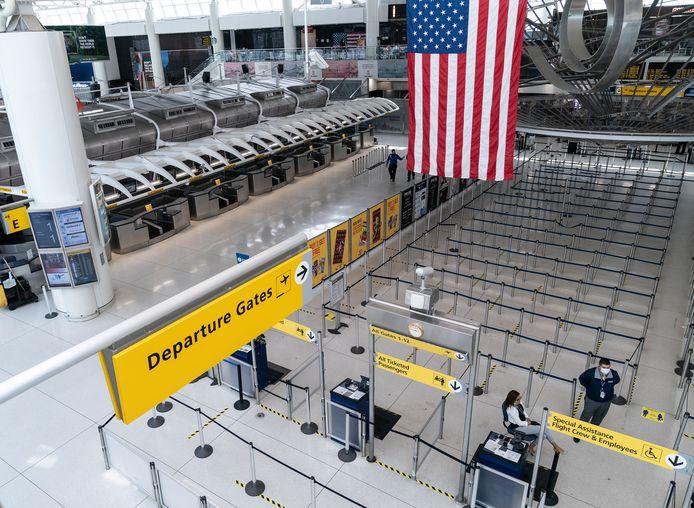 Lege hallen op het John F. Kennedy-vliegveld.
