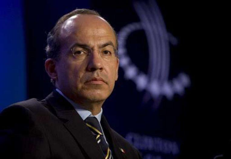 President Calderon wil de strijd met corruptie aangaan. Beeld UNKNOWN