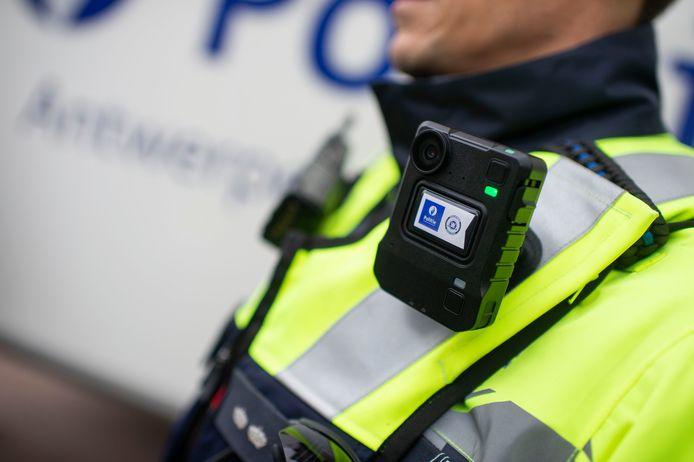 Bodycams bij de Antwerpse politie.