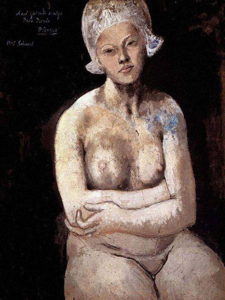 La Belle Hollandaise van Picasso, gemaakt toen hij in 1905 in Schoorl was. Beeld