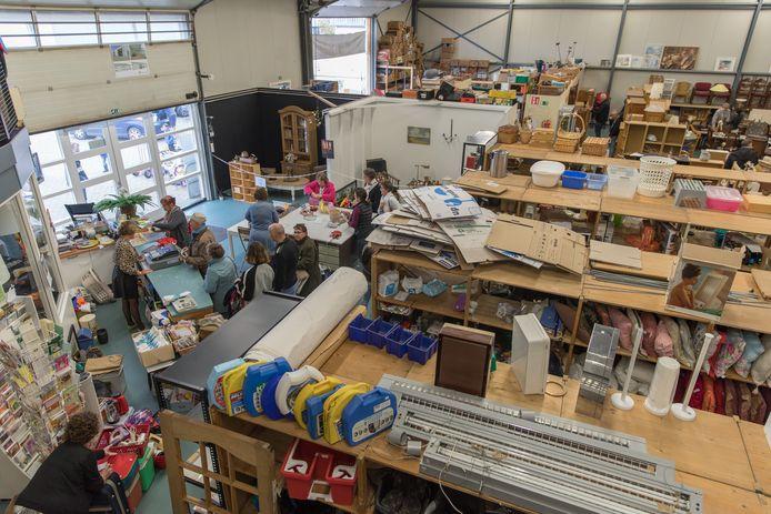 Kringloopwinkel Goed & Gebruikt in Goes, waarmee het Hoornbeeck College hoopt te gaan samenwerken.