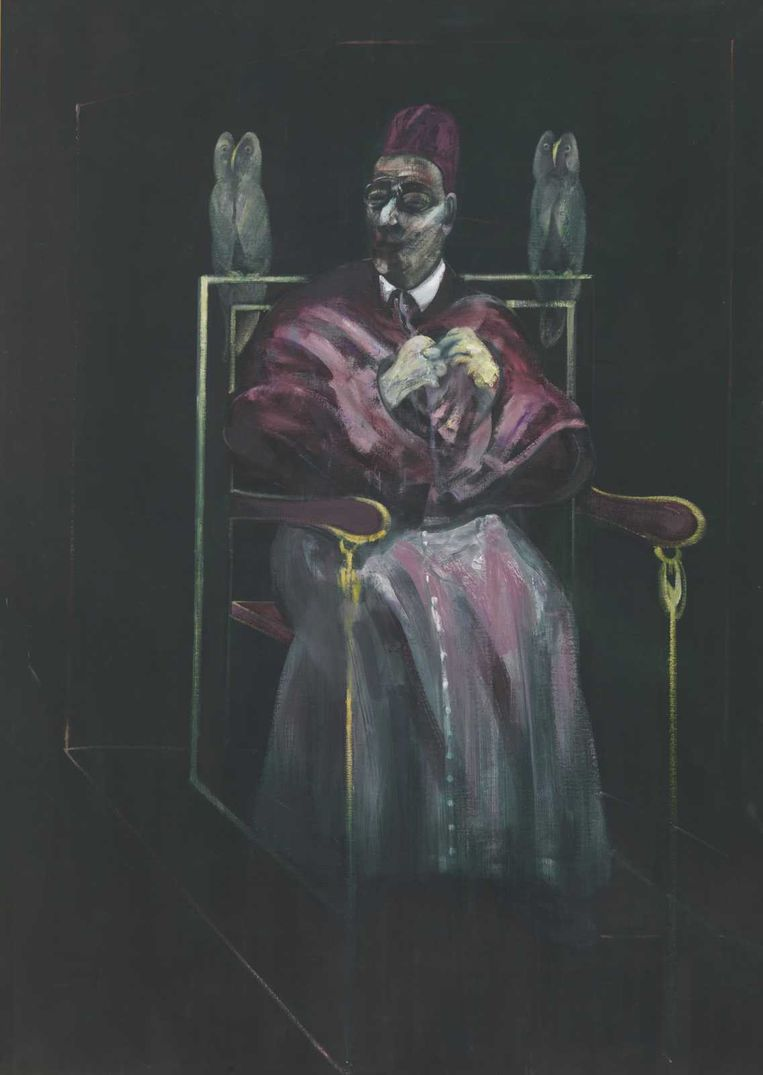 Francis Bacon: 'Pope with Owls'. Beeld MRBAB, Bruxelles / Photo: J. Geleyns