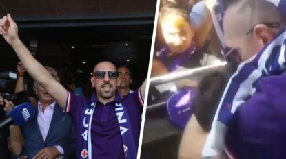 Franck Ribéry als een ware held ontvangen in Firenze, stad die met Amerikaans geld weer wil dromen