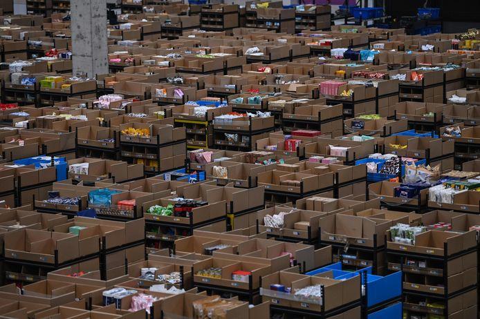 Distributiecentrum van Alibaba in de Chinese stad Wuxi.