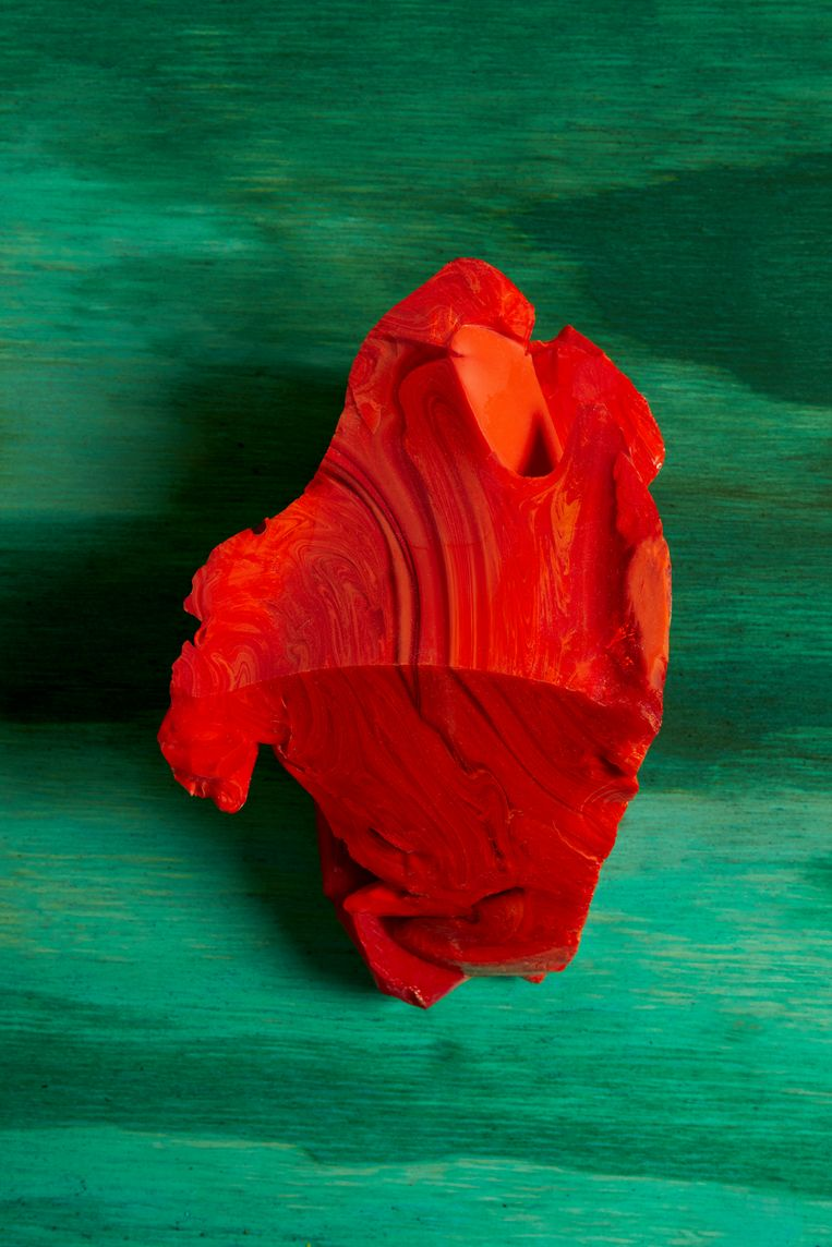 Red Cotisso, Green Pigment, Wood in Arìn uit de serie Caminantes, 2019.   Beeld Lorenzo Vitturi / Foam